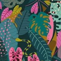 Tissu NIght Jungle Monstera fond foncé 20 x 110 cm