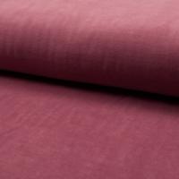 Jersey velours lisse (nicky) coloris rose dark dusty 20 x 140 cm