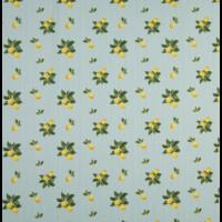 Popeline citrons fond rayé 20 x 140 cm