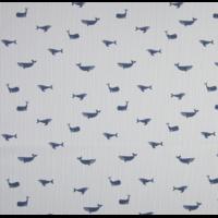 Popeline baleines fond rayé 20 x 140 cm