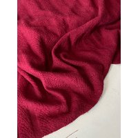 Coupon de maille douce coloris Bordeaux 2m40 x 1m