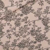 """Sweat léger """"French Terry"""" imprimé Cherry Blossom coloris rose pâle 20 x 150 cm"""