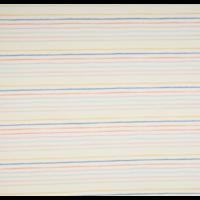 Jersey rayé multico fond blanc cassé 20 x 140 cm