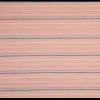 Jersey rayé multico fond saumon 20 x 140 cm