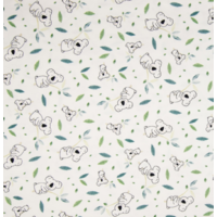 Jersey koalas fond blanc 20 x 140 cm