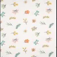 Jersey paillettes feuilles 20 x 140 cm
