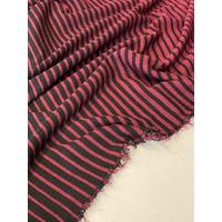 Lot de 2 panneaux de jersey rayure dégradée bordeaux 80+80 = 1m60 x 125 cm