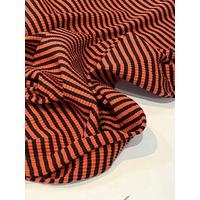 Jersey chenille orange foncé 1m60 x 130 cm