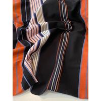 COUPON de jersey bio noir et rouille 1m60 x 165 cm