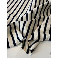 COUPON de Maille polo noir fond blanc cassé 1m60 x 175 cm