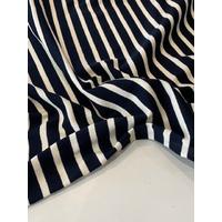 COUPON de Maille polo blanc cassé fond noir 1m60 x 150 cm