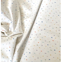 Jersey dots multico fond blanc cassé 20 x 140 cm