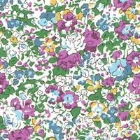 Liberty Organic Tana Lawn™ Claire Aude vert et violet coloris C 20 x 137 cm