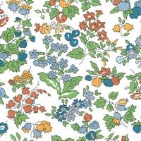 Liberty Organic Tana Lawn™ Nancy Ann automne coloris C 20 x 137 cm