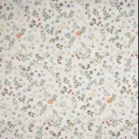 Voile de coton Prairie coloris vert 20 x 140 cm
