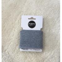 Bord-côte Poppy Cuffs gris chiné