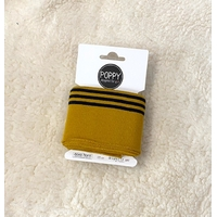 Bord-côte Poppy Cuffs moutarde et marine