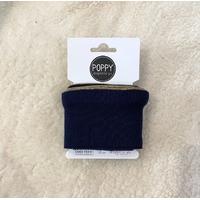 Bord-côte Poppy Cuffs Frill marine et doré