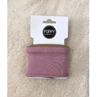 Bord-côte Poppy Cuffs Frill parme et doré