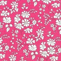 DERNIER COUPON de Liberty Organic Tana Lawn™ Capel rose coloris B 77 x 137 cm