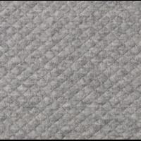 Jersey mini matelassé gris chiné 20 x 140 cm