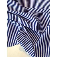 Grand coupon de jersey fin rayé bleu et blanc 2m x 160 cm