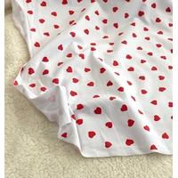 Sweat léger imprimé coeur-coeur fond blanc 20 x 140 cm
