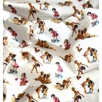 Tissu Martine à la plage 20 x 140 cm