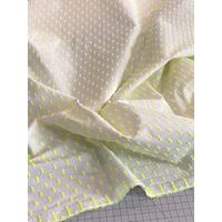 Tissu plumetis jaune fluo / blanc 20 x 145 cm