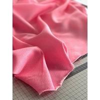 Tissu fil-à-fil rose fluo / blanc 20 x 150 cm