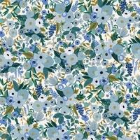 Tissu Rifle Paper Garden Party Petite Garden Blue 20 x 110 cm