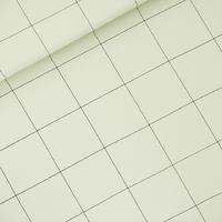 "Sweat léger ""French Terry"" imprimé Thin Grid coloris fog green 20 x 150 cm"