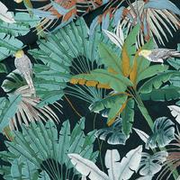 Viscose Jungle Green Gables 20 x 140 cm