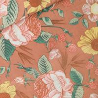 DOUBLE GAZE Bloom Garden coloris café crème 20 x 140 cm