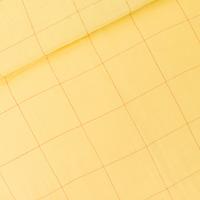 DOUBLE GAZE Thin Grid coloris jaune popcorn 20 x 140 cm