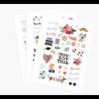 Set de 128 stickers