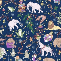 Liberty Christmas marine coloris T 20 x 137 cm