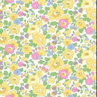 Liberty Organic Tana Lawn™ Betsy Mimosa jaune et vert coloris A 20 x 137 cm