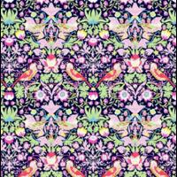 Liberty Strawberry Thief violet coloris H 20 x 137 cm