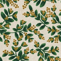 Tissu lin/coton Rifle Paper Holiday Classics Gui naturel 20 x 110 cm
