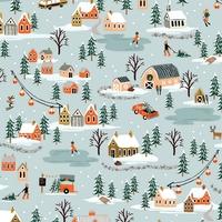 Coton Rifle Paper Holiday Classics Village mint 20 x 110 cm