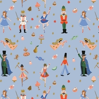 Coton Rifle Paper Holiday Classics Land of Sweets powder blue 20 x 110 cm