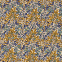 Liberty Aubrey Forest bleu et moutarde coloris C 20 x 137 cm