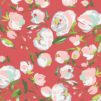 Jersey Everlasting Blooms Berry 20 x 150 cm
