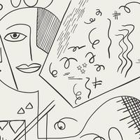 Tissu Cubist Perception 20 x 110 cm