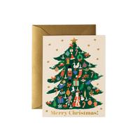 Carte double Merry Christmas avec enveloppe