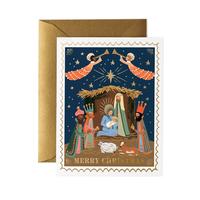 Carte double Nativité avec enveloppe
