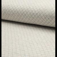 Sweat matelassé coloris gris clair chiné moucheté 20 x 145 cm