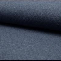 Sweat matelassé coloris marine chiné moucheté 20 x 145 cm