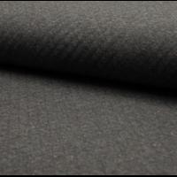 Sweat matelassé coloris noir chiné moucheté  20 x 145 cm